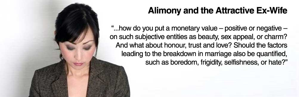 Alimony and the Attractive Ex-Wife