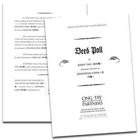 Whats in a name change otp law corporation sample deed poll issued by ong tay partners maxwellsz